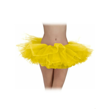 Yellow Adult Tutu Halloween Costume](Costumes With Tutus For Adults)