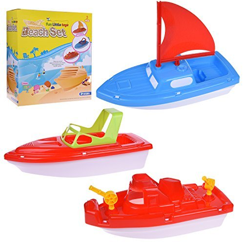 Bath Boat Toy, Pool Toy, 3pcs Yacht, Speed Boat, Sailing Boat, Aircraft Carrier, Fisher... by LIVEDITOR LIGHTING