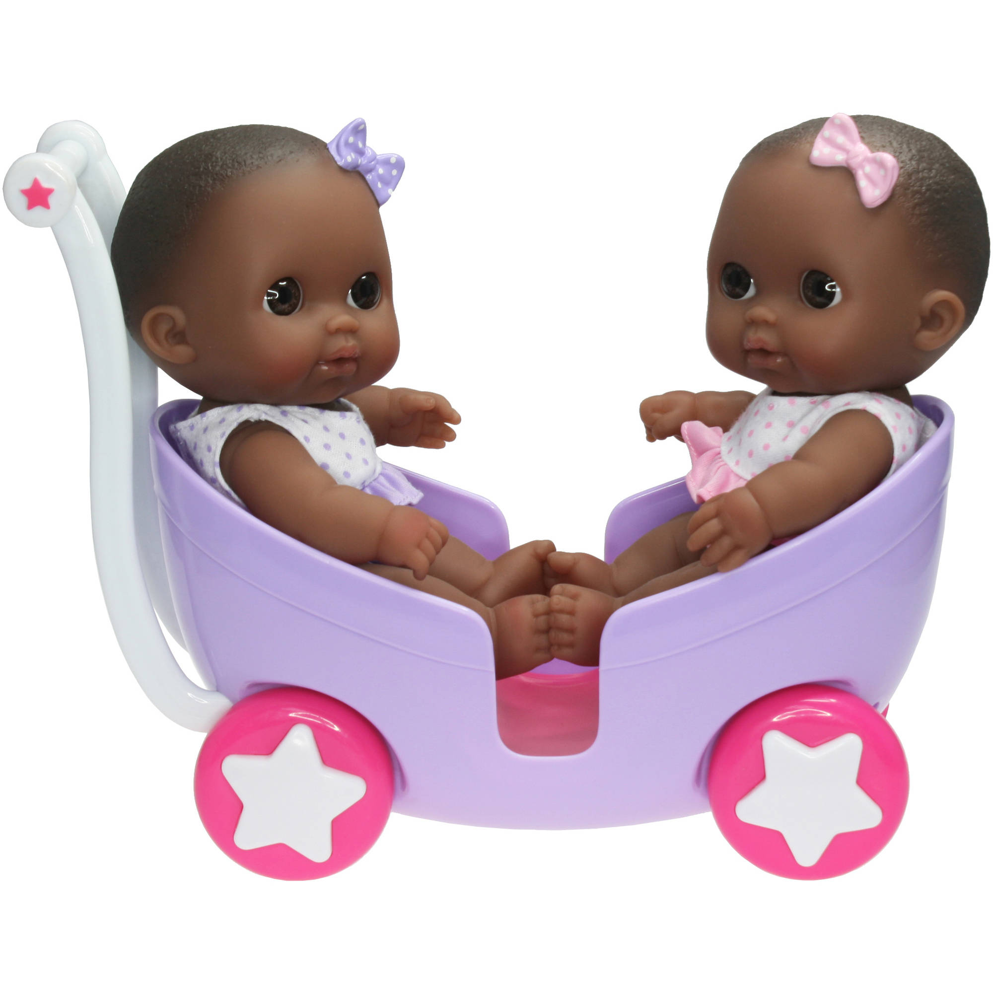 Berenguer Lil' Cutesies Twin Dolls in Stroller