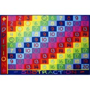 Fun Rugs Children's Fun Time Collection, Addition and Subtraction