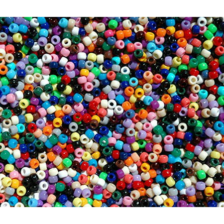 JOLLY STORE Crafts Multi Color Pony Beads 9x6mm 500pc Made in the USA - Multi Color Beads