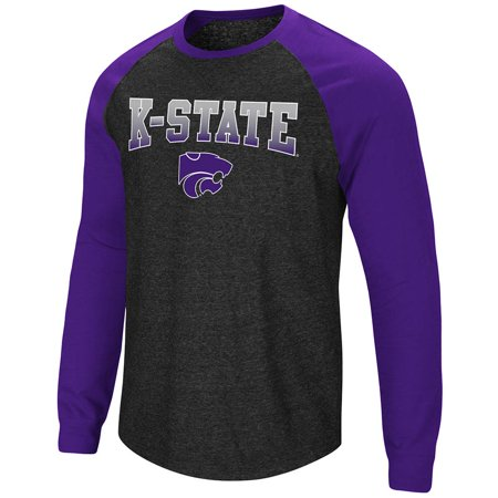 State Wildcats Spring - Mens Kansas State Wildcats Long Sleeve Raglan Tee Shirt - L
