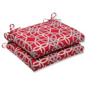 Pillow Perfect Outdoor/ Indoor Keene Cherry Squared Corners Seat Cushion (Set of 2)