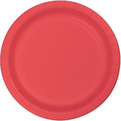 Creative Converting Coral Dessert Plates, 24 ct (Coral Plates)