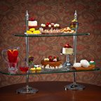 Godinger 29618 2 Tier Etagere - 40/30 Glass