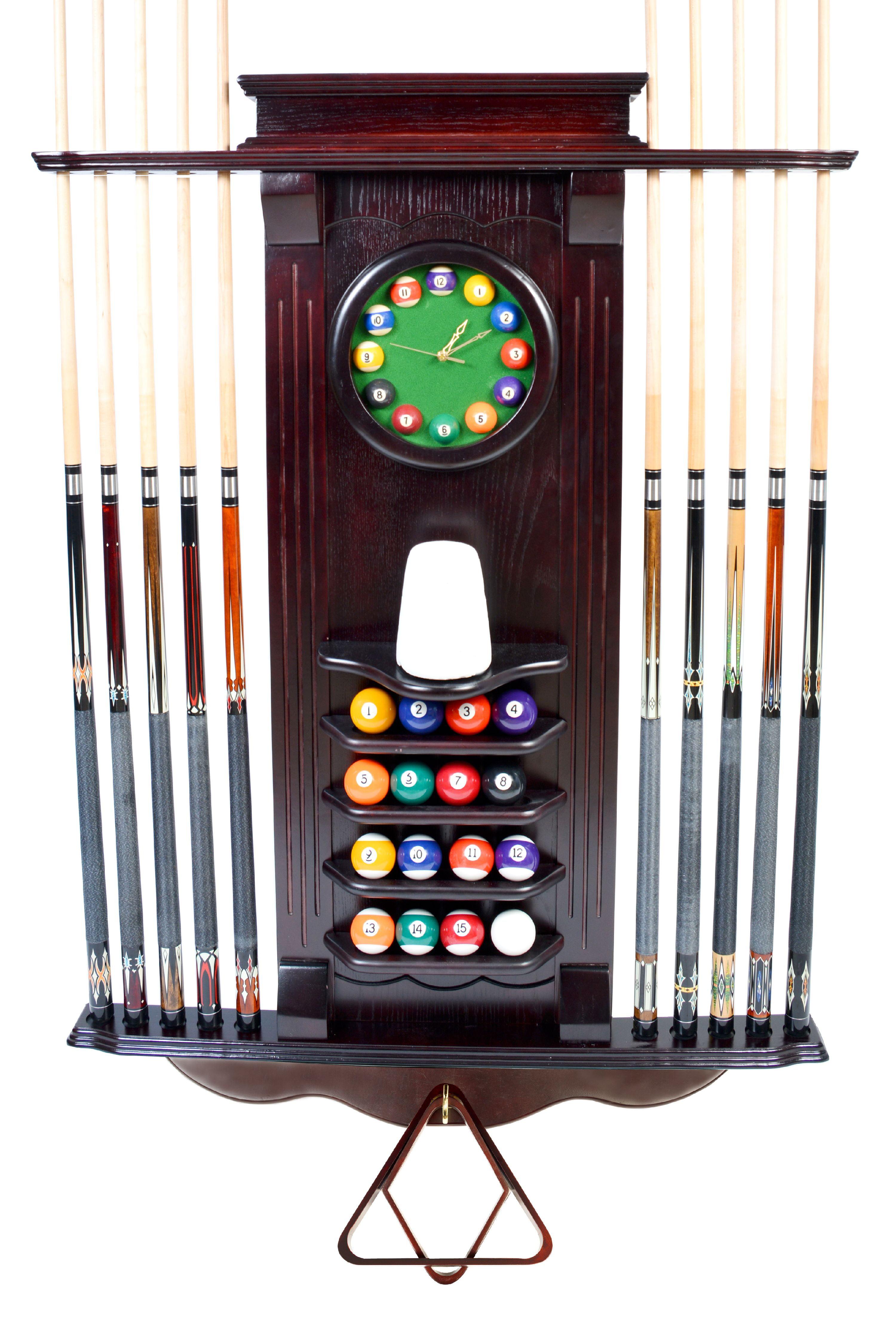 8 Cue Sterling Gaming Deluxe Corner Cue Rack