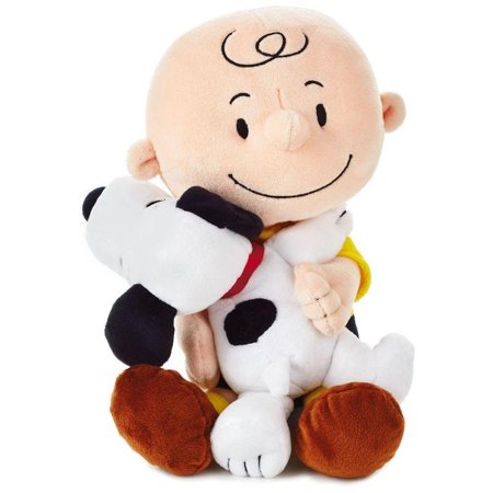 Hallmark Peanuts Charlie Brown and Snoopy Hugging Stuffed Animal 8.75 New w Tag ()