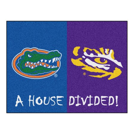 "Florida - LSU House Divided Rug 33.75""x42.5"""