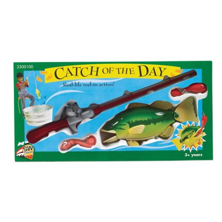 Catch Of The Day Real Action Fishing Toy (Fishing Toys)
