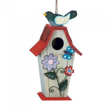 Garden Treasure Birdhouse - GARDEN BIRDIE BIRDHOUSE