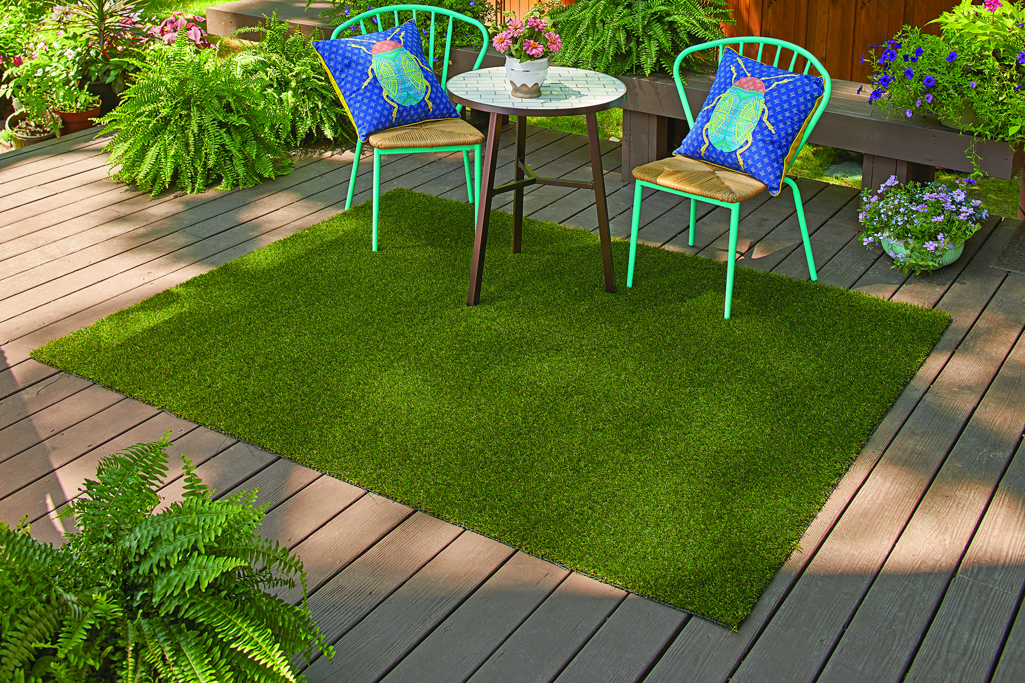 Better Homes And Gardens Outdoor 36in. X 60in. Faux Grass Rug