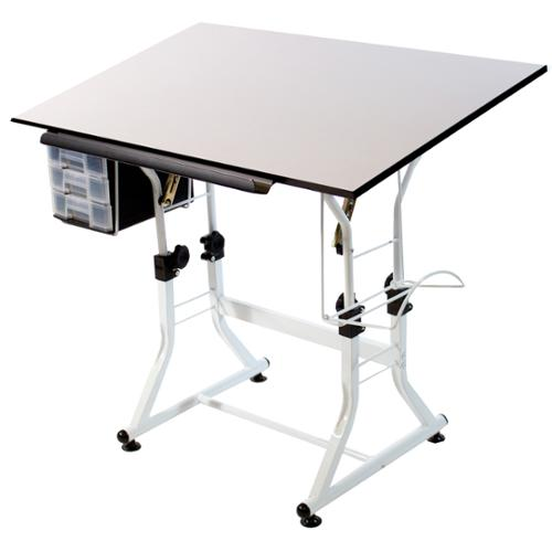 Martin Universal Design White Creative Drafting and Hobby Craft Table