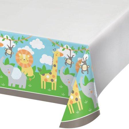 Creative Converting Jungle Animals Plastic Tablecover 48