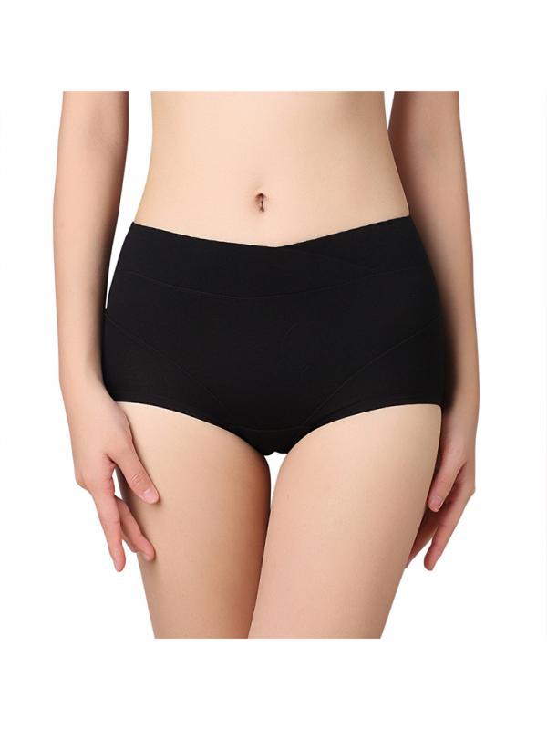 Ropalia Women Menstrual Period Panties Cotton High Waist Underwear Leakproof Briefs