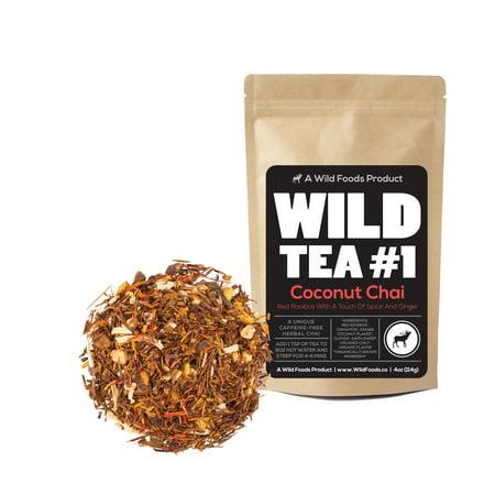 Coconut Chai, Rooibos Loose Leaf Tea Blend, 100% Natural Organically Grown Ingredients - Wild Tea #1 Herbal Chai Tea by Wild Foods (4