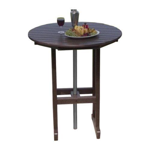Polywood 174 Recycled Plastic Round Bar Table Walmart Com