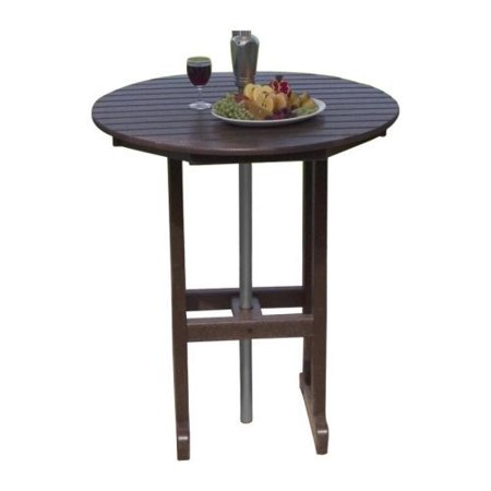 POLYWOOD Recycled Plastic Round Bar Table