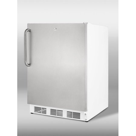 Vt65ml7sstbada 24  Commercially Approved Ada Compliant Upright Freezer With 3 5 Cu  Ft  Capacity  Factory Installed Lock  Three Slide Out Drawers And Adjustable Thermostat In Stainless Steel