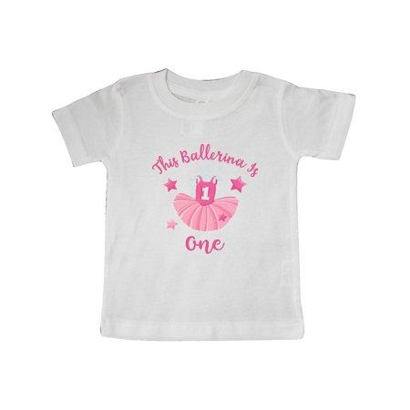 5b2a265f2088 Ballerina 1st Birthday Baby T-Shirt - Walmart.com