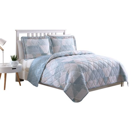 Drake Geo 3 Piece Quilt Set, Queen ()