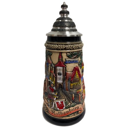 City of Rothenburg Panorama Gift Boxed LE Stoneware German Beer Stein .5 L