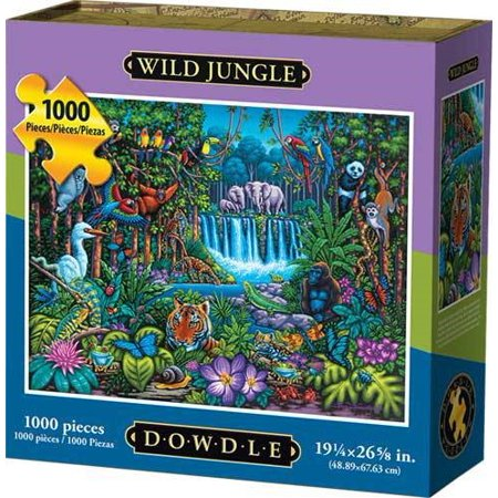 Dowdle Jigsaw Puzzle - Wild Jungle - 1000 - Wood Jigsaw Safari Puzzle