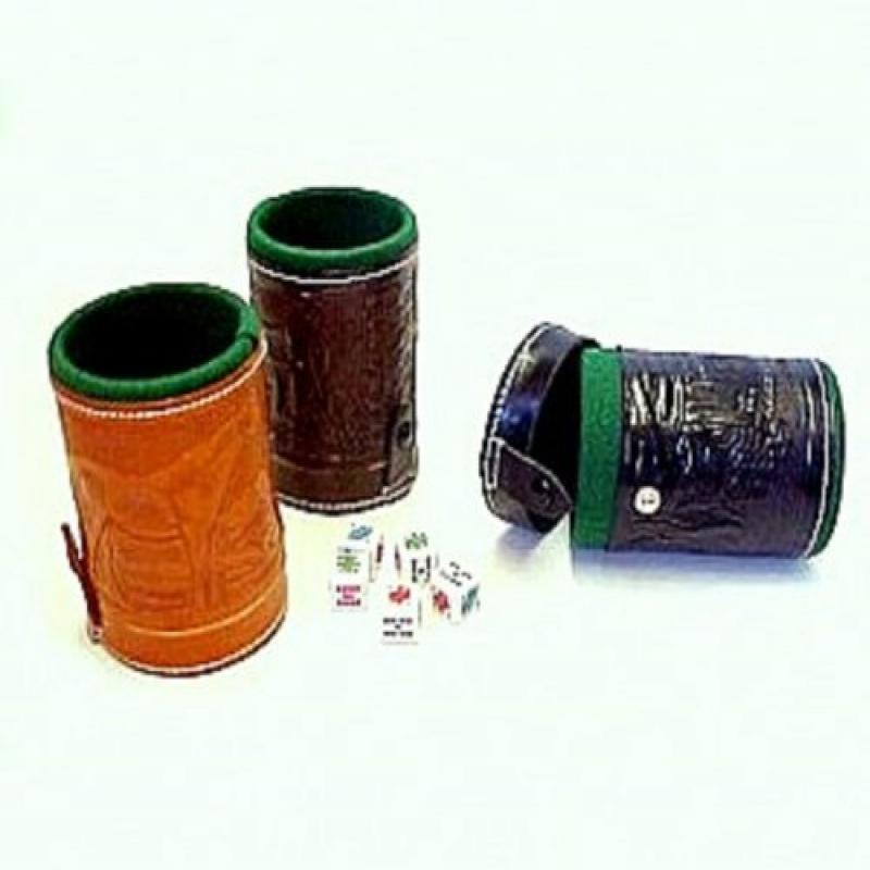 Cubilete Leather Dice Cup Play Casino Traditional Game Handcrafted In Mexico New