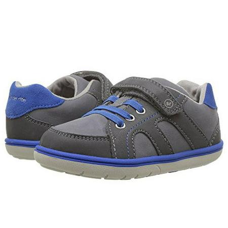 Stride Rite Boys' Srtech Noe Sneaker (Toddler) Grey Blue 12 M ()