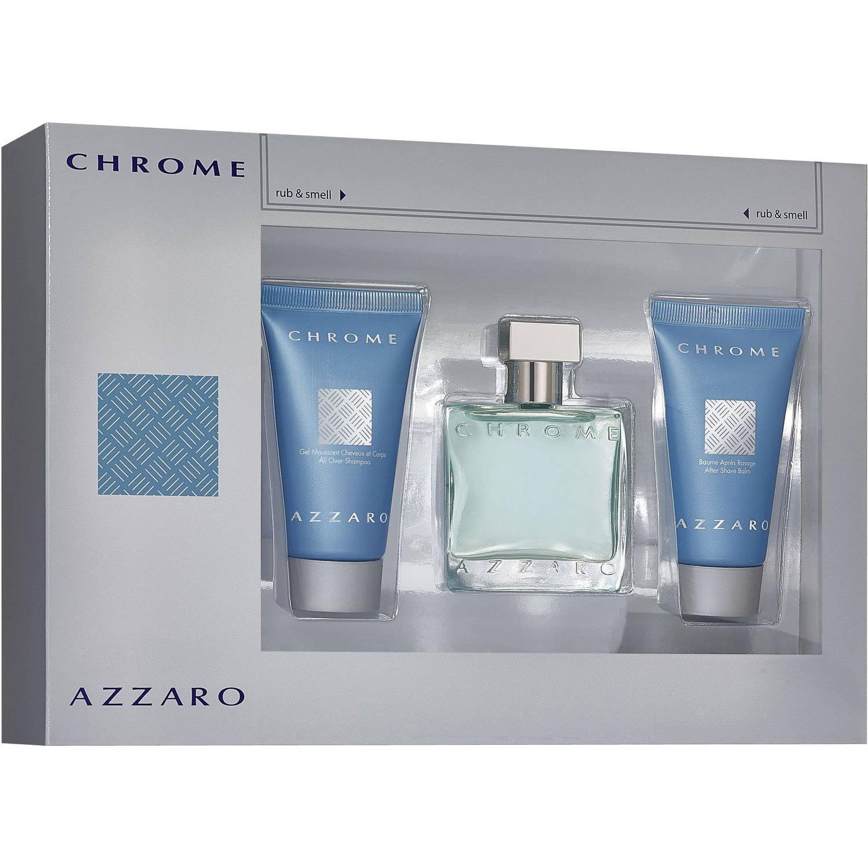 Azzaro Chrome Cologne Gift Set, 3 pc