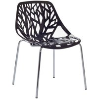 Hawthorne Collection Dining Side Chair in Black