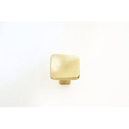 Square Section Bow - Hamilton Bowes Satin Brass Cabinet Hardware Square 1.2