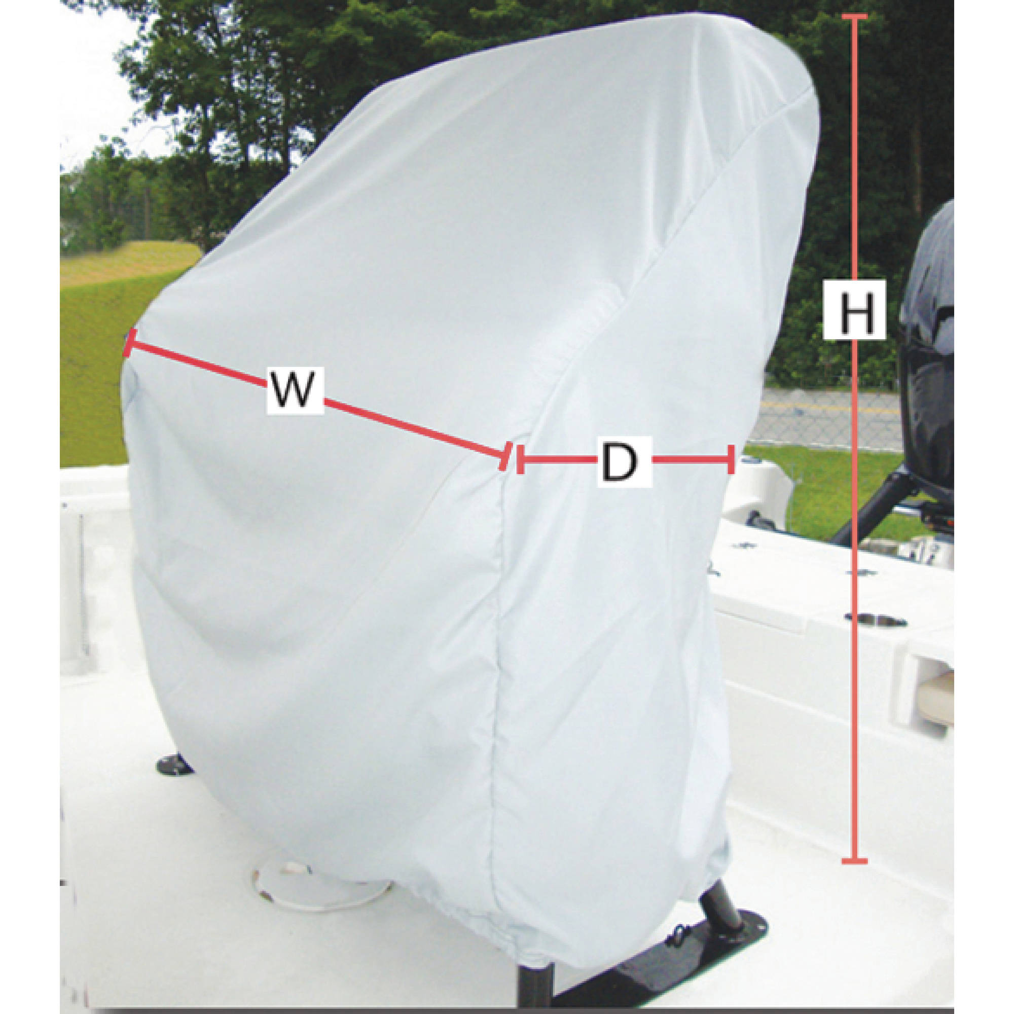 """Carver Universal Leaning Post Cover, 47""""H x 41""""W x 24"""" D, Haze Gray"""