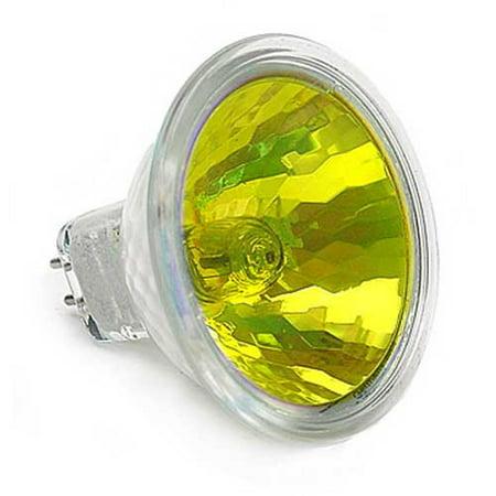 FNC Ushio MR16 50w 12v SP12 w/ Front Glass FG GU5.3 Yellow Spot Halogen Bulb