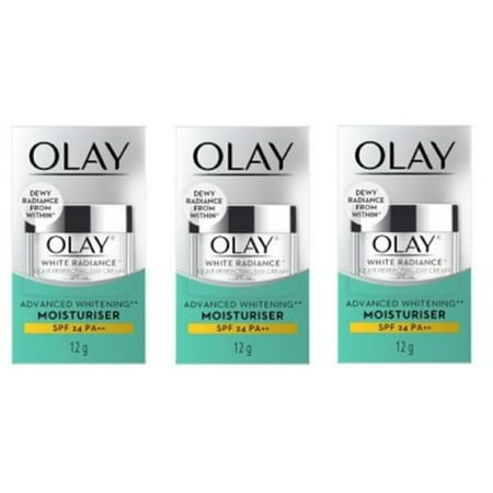 Olay White Radiance Light Perfecting Day Cream, Advanced Whitening Moisturizer, 12g (0.5 Oz) (Pack of 3)