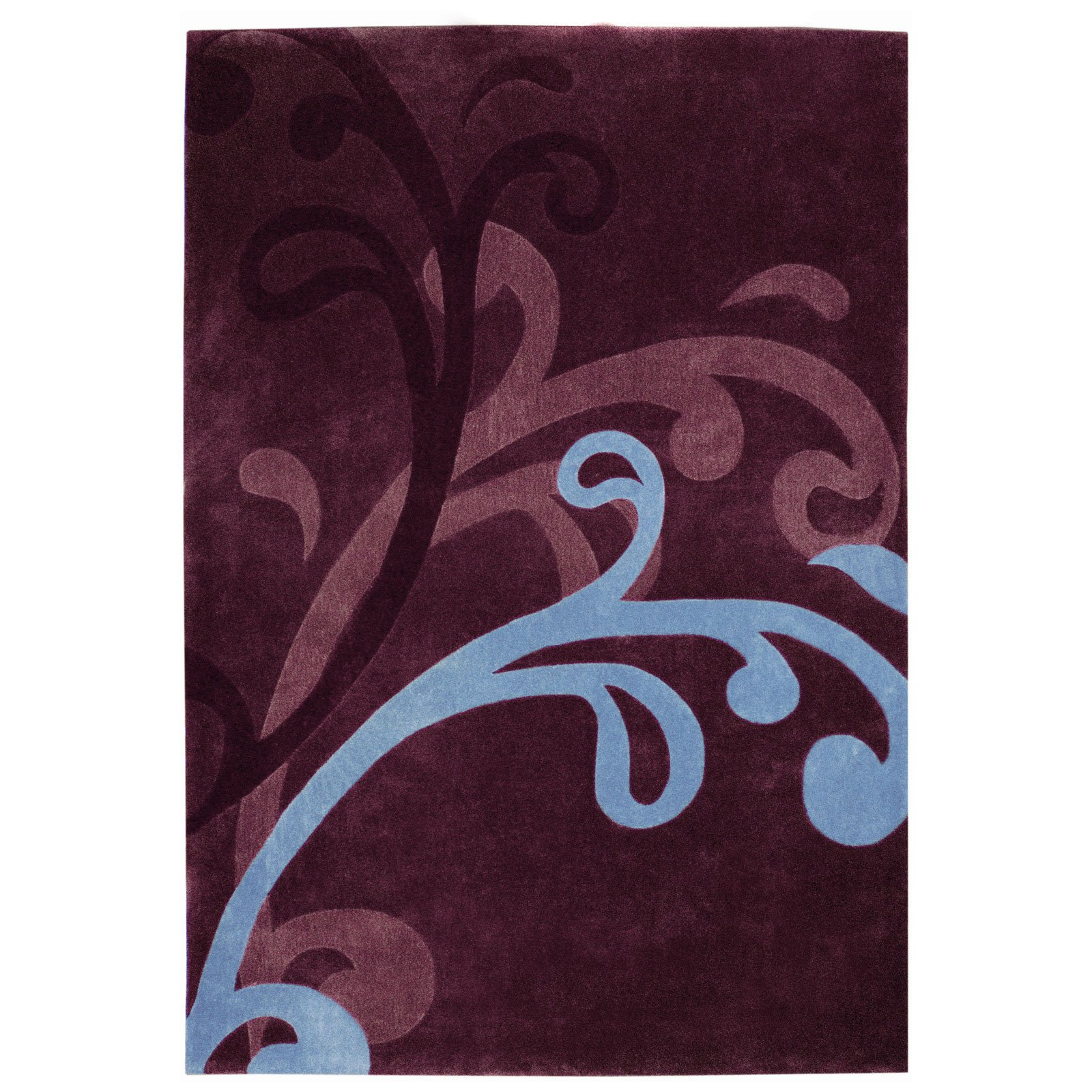 Dynamic Rugs Mystique Wave 2214 Area Rug - Wine