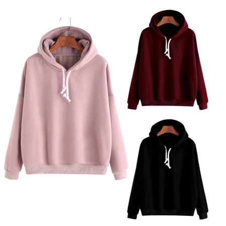 Urkutoba - Men Women Pullover Hoodie Unisex Hip-hop Solid Color Plain  Sweatshirt Teenager - Walmart.com 52ca12260f