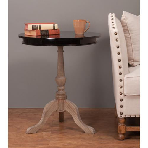 Decorative Foster Casual Black Round Accent Table