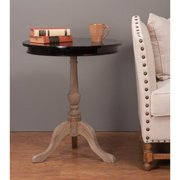 Crafted Home Decorative Foster Casual Black Round Accent Table