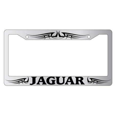 Jaguar Tribal Design 2 Chrome Plastic License Plate Frame - Walmart.com