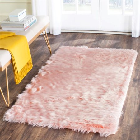 Safavieh Faux Sheep Skin 3' X 5' Power Loomed Acrylic Rug in Pink - image 2 of 3