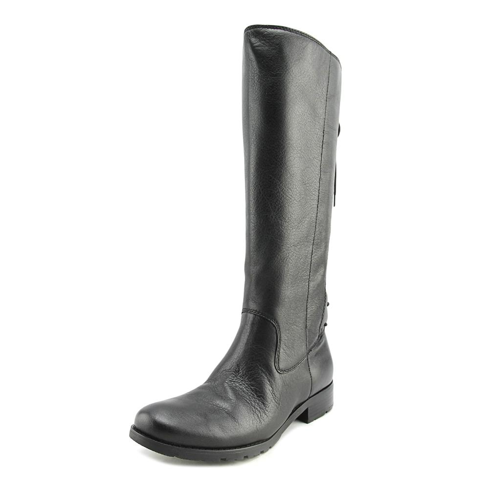 Sofft Sharnell Women Round Toe Leather Black Knee High Boot by Sofft