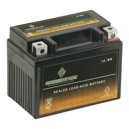 YTX4L-BS High Performance - Maintenance Free - Sealed AGM Motorcycle (04 Replacement Motorcycle Battery)