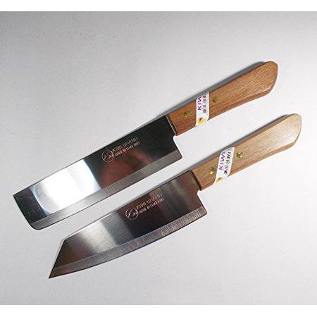 Chef's Knife Cook Utility Knives Set 2 KIWI Brand 171,172 Cutlery Steak Wood Handle Kitchen Tool Sharp Blade 6.5
