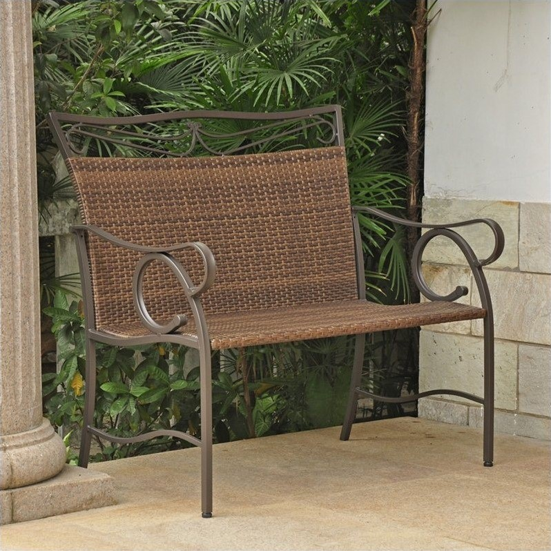 International Caravan Valencia Resin Patio Loveseat in Antique Brown - image 1 de 1