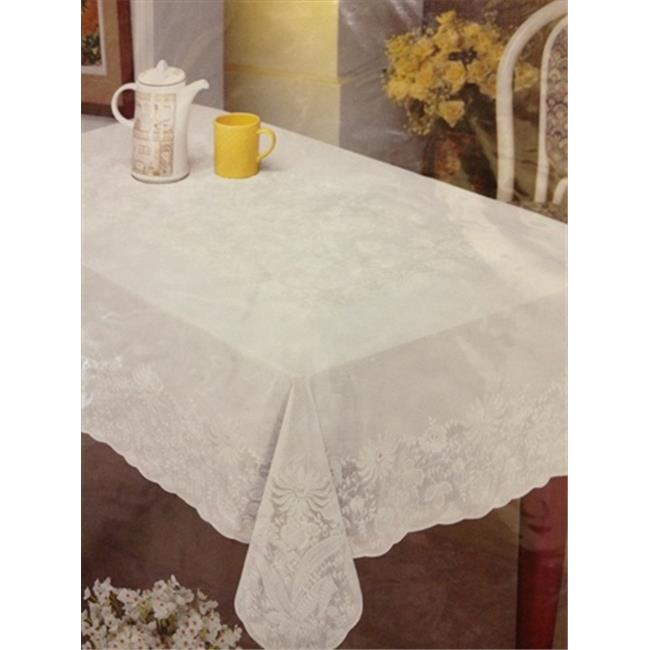 Home Products TABLECLOTH-L-70 Lace Look Vinyl Tablecloth 52 inch x 70 inch