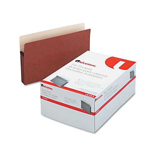 Universal 3 12 Expansion File Pockets, Straight Tab, Legal, RedropeManila, 25Box (15161) - image 1 of 1