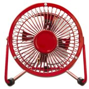 "Optimus 4"" Personal Metal Fan - Red"