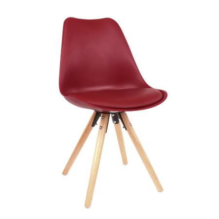 Design Lab MN LS-1000-WRDNAT Viborg Maroon/Natural Dining Chair Set of 2 ()