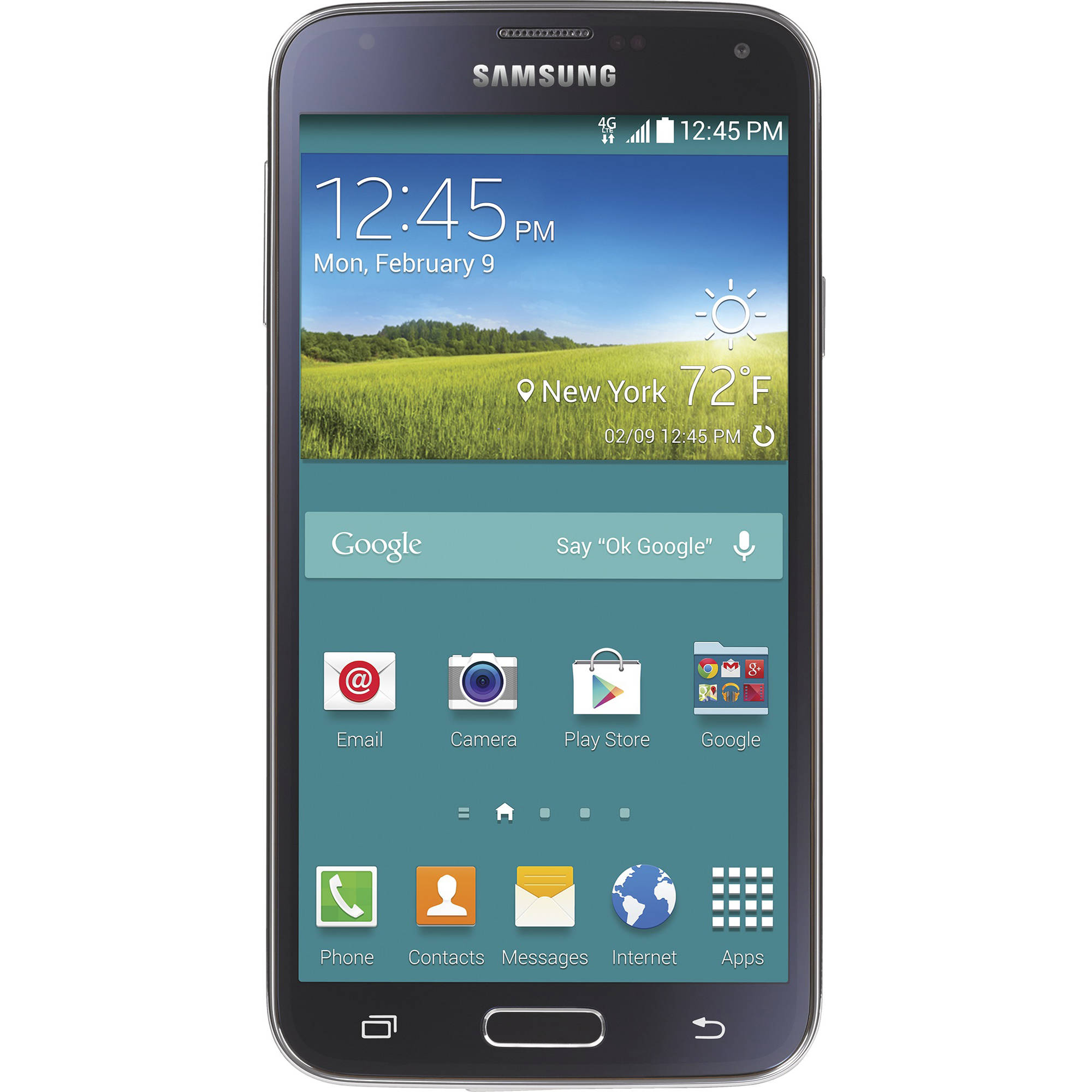 Refurbished Straight Talk Samsung Prepaid Galaxy S5 Certified Smartphone with BONUS $45/30 Day Plan