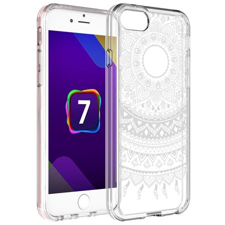 the latest f01e7 3bd03 iPhone 8 Case (4.7'), iPhone 7 Case, Rosebono Slim Scratch-Resistant  Mandala Pattern Designed Protective Case Cover for Apple iPhone 8 (White  Henna)
